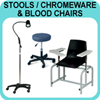 Stools/Chromeware & Blood Chairs